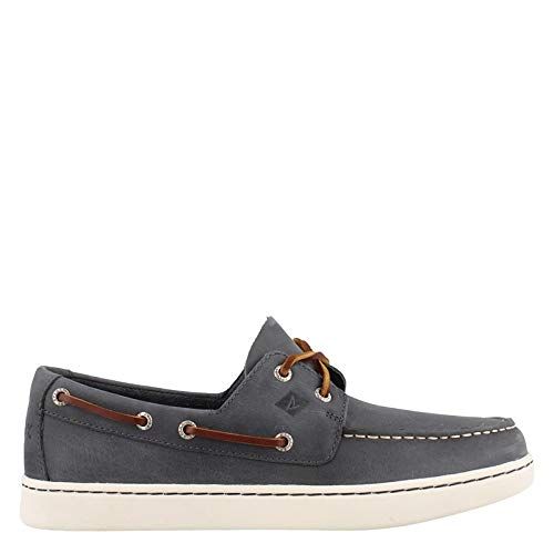 SPERRY Men's Cup 2-Eye Leather Boat Shoe, Navy, 9.5 ()