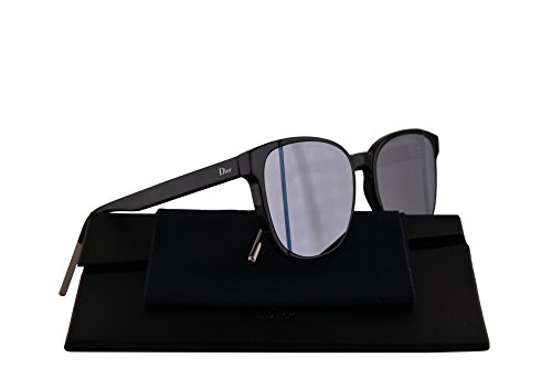 Christian Dior DiorStep Sunglasses Black w/Grey White Mirror Lens 55mm 807R8 DiorSteps DiorStep/s Dior Step