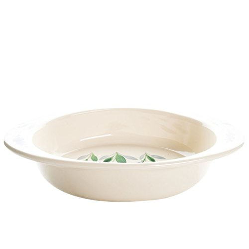 1.5 Quart Stoneware Casserole Dish by Arousing Appetites - Cream White Oval Ceramic Nonstick Pot and Oven Safe Baking Pan with Decorative Design by Arousing Appetites (Image #2)