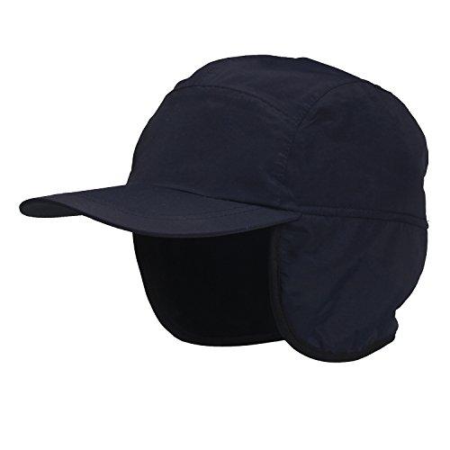 Winter Baseball Cap Earflap Fleece Inside Cap Waterproof Outdoor Cap Adult (Fleece Waterproof Hat)