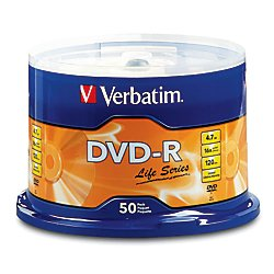 Verbatim(R) Life Series DVD-R Disc Spindle, Pack Of (Series Disc)