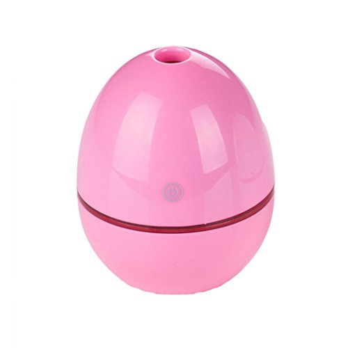 Price comparison product image Humidifier, 50ML Egg Shaped Ultrasonic Humidifier USB Portable Atomizer For Office By Dacawin (Pink)