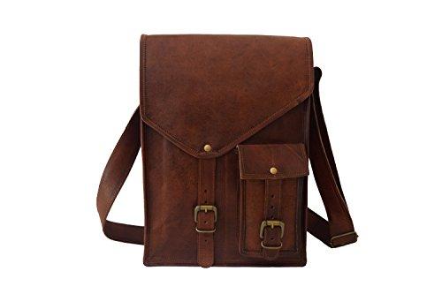 (Real Leather Messenger Bag 13