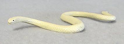 Amazon com: Albino Texas Rat Snake plastic 6 inches long