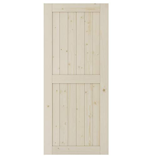 SmartStandard 36in x 84in Sliding Barn Wood Door Pre-Drilled Ready