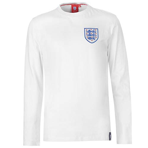 (Abercrombie & Fitch FA England Crest Long Sleeve T-Shirt Mens White Football Soccer Top Tee Shirt XX-Large)