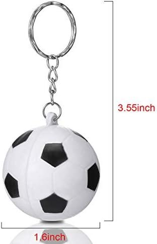 20 Piezas de Llavero de Soccer Blanco para Favores de Fiesta ...