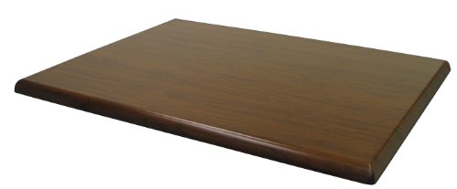 ATC Werzalit Wood-Look Table Top, 28'' L x 44'' W, Italian Walnut (Pack of 2) by American Trading Company