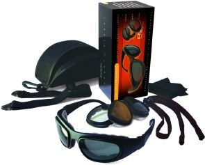Bobster Sport & Street 2 Convertible Goggles - Black Frame w/ 3 Lens - Interchangeable Goggles Street