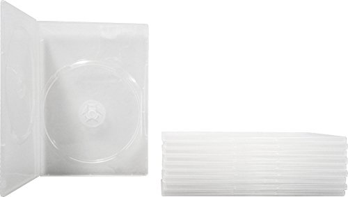 DV2R07CL - Double (2-Disc) DVD Empty Replacement Cases with Wrap Around Sleeve - Slim (7mm) - Clear - (10 Pack) (Double Disc Dvd Case)