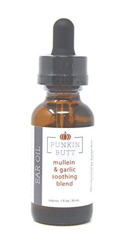 Punkin Butt Ear Oil (1 ounce bottle) | Organic Garlic, Mullein, and Calendula Ear Drops - Naturally Help Soothe Ear Pain