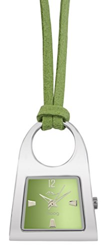 Moog Paris Pendentif Women's Watch with Green Dial, Green Strap in Nubuck - M41466-003