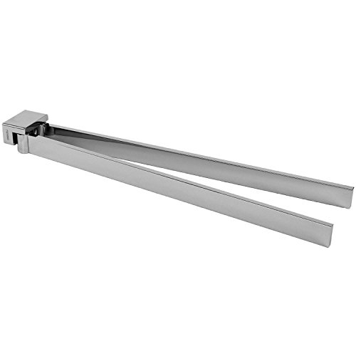 Gedy Lounge Square Double Swivel Towel Bar In Polished, Chrome, 15''