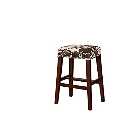 Terrific Amazon Com Linon Walt Brown Cow Print Bar Stool Kitchen Gmtry Best Dining Table And Chair Ideas Images Gmtryco