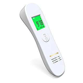 Forehead Thermometer, 4-in-1 Professional Precision Digital Thermometer with Fever Alarm, Forehead and Ear Thermometer for Baby Kids and Adults Surface