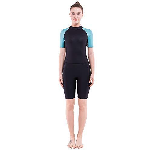 Dark Lightning 2mm Wetsuit Women, Women's Shorty Wet Suit Premium Neoprene Kids 2mm One Piece Wet Suits Fishing, Diving,Surfing, ()