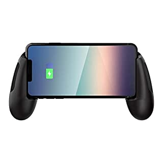 HyperX ChargePlay Clutch – Qi Certified Wireless Charging Controller Grips for Mobile Phones, Detachable Battery Pack, Compatible with Qi Enabled Android and iPhone Devices, USB Charging Option