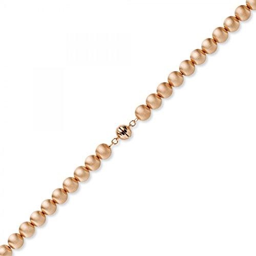 10mm Boule chaîne collier en or 585or rouge doré mat 50cm