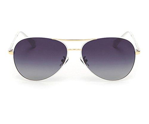 Heartisan Aviator Polarized Full Mirrored Metal Crossbar Sunglasses - Big Kardashian Sunglasses Aviator Kim