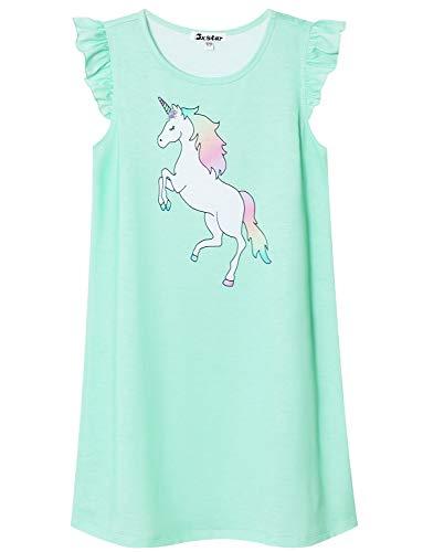 Blue Unicorn Nightgown for Girls 7-16 Nightdress Summer Sleeveless Nighty