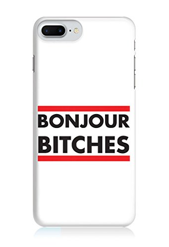 COVER quote Spruch BONJOUR WEISS Handy Hülle Case 3D-Druck Top-Qualität kratzfest Apple iPhone 7 Plus