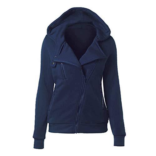 Winter Gothic Hooded Coats Zipper Slim Sweatshirt Cotton Patchwork Red Female Warm Windpro,Dark Blue,XL ()