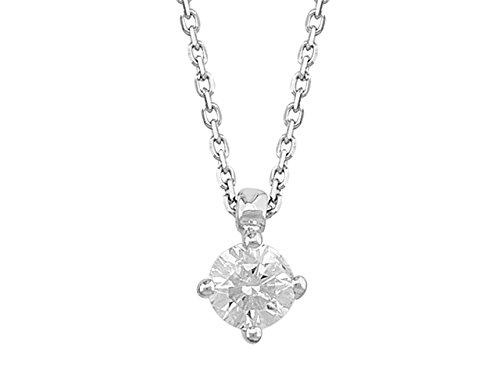 Pendentif Diamant Solitaire 0.30 Carat -Femme- or Blanc 204P0037