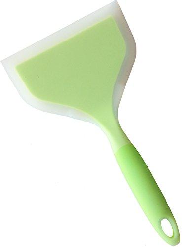 (Minchsrin Silicone Wrapped NylonFish Spatula Wide Turner 10'' (L) 4.7''(W))