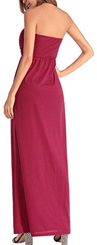 Night Color Jaycargogo Solid 1 Strapless Dress Sexy Maxi Party Womens Party nqqYpS7wZ