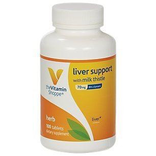 the Vitamin Shoppe Liver Support with Milk Thistle 100 Tablets Vanilla by Vitamin Shoppe -