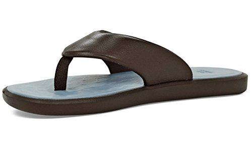 - SoftScience Men's/Women's Skiff 2.0 EVA Flip-Flop Chocolate/Light Blue M9/W11