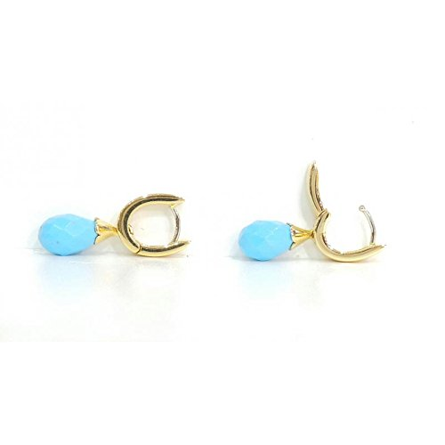 Boucles d'oreille Femme-oroo7or jaune turquoise
