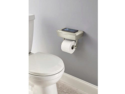 Delta Porter Brushed Nickel Toilet Paper Holder with Storage Box - Pack of 2