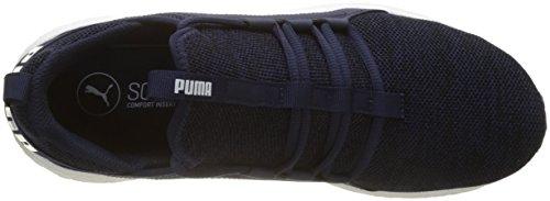 Puma Herren Mega Nrgy Breien Cross-trainer Blau (peacoat-puma Wit)