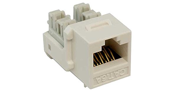 Amazon Com Cable Leader Cat6a Rj45 Utp 110 Type Punch Down Keystone Jack White Color Home Improvement