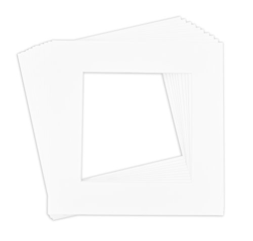 Golden State Art, Pack of 10, 12x12 White Picture Mats Mattes with White Core Bevel Cut for 8x8 Photo by Golden State Art