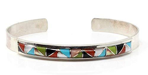 L7 Enterprises Zuni Multi-Color Channel Inlay Bracelet