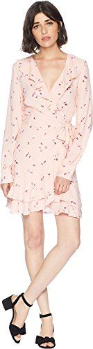 Juicy Couture Women's Rose Floral Flirty Wrap Dress Soft Glow Floral Riot Medium by Juicy Couture (Image #3)