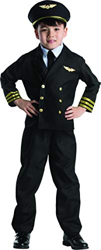 (Dress Up America Pilot Boy Jacket Costume Set - Medium 8-10)