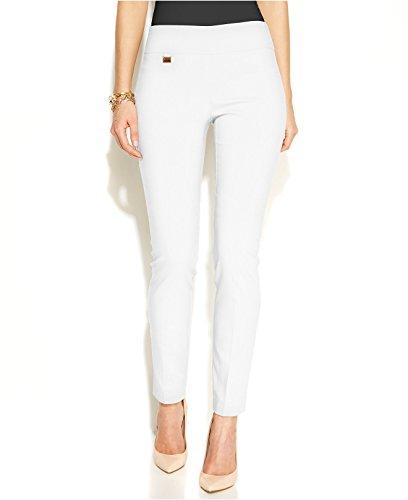 Alfani Womens Tummy Control Pull On Casual Pants White 16 from Alfani
