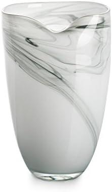 Ballerina Milky Flower Bottle Hand Blown Glass Vase