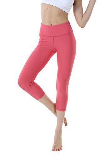 3b0d49875ea7a THEOUTOF Women's Power Yoga Pants – Mid Waist Capri WMC8417 Rapture Rose  Medium – Control Shapewear