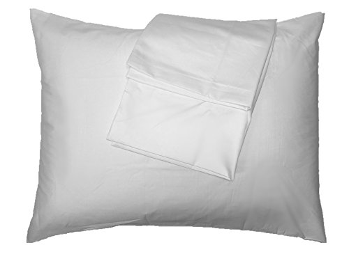 100% Cotton Ultra Soft Queen Size Bed Pillowcases with Zipper Closure, Set of 2