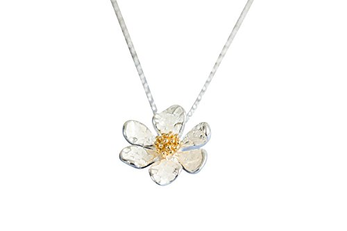 Bohemian Boho Simple Bling Delicate Cute Relationship Friendship Minimalist White Daisy Flower Pendant Charm Chain Necklace for My Daughter Girlfriend Women Teens Girls Mens Boy Prime With - Daisy Men Chain