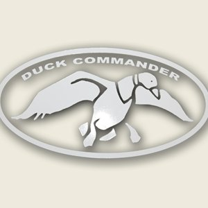 Duck Commander White Oval Duck Hunting Window Decal, Outdoor Stuffs
