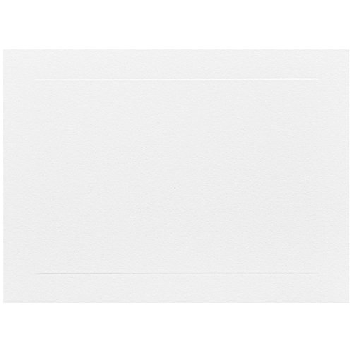 JAM PAPER Blank Flat Note Cards - 5 1/8 x 7 (Fits in A7 Envelopes) - White Panel - 50/Pack (Embossed Flat Card)