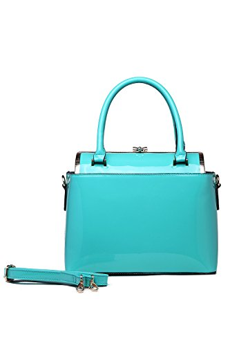 "MKF Collection Fashion ""MARISOL SATCHEL"" Signature Design Tote ~ New Fashion Women Handbag ~ Fashion Lady Purse Tote Handbag ~ Boutique Women's Designer Handbag ~ Fashion Designers Tote Handbag By MKF Collection (Turquoise) ()"