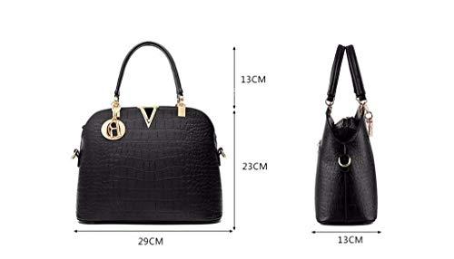 Bag Messenger tout Blanco bolso Ladies 29x13x23cm Eeayyygch Gules Fourre For a7qwp7vIx