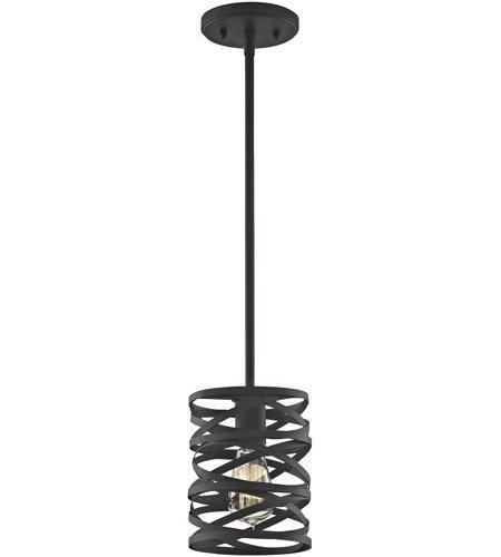(Pendants 1 Light with Oil Rubbed Bronze Finish Medium Base 6 inch 100 Watts - World of)