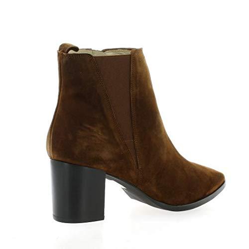 Velours Boots Cognac Cognac Pao Cuir aFRwqO01